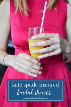 A classic Kate Spade style bridal shower. Inspiration for planning a perfectly preppy event! // From Elegance & Enchantment