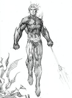 Aquaman sketch Jim Lee - Visit to grab an amazing super hero shirt now on sale! Dc Comics Art, Batman Comics, Anime Comics, Aquaman Comics, Comic Book Artists, Comic Artist, Comic Books Art, Character Drawing, Comic Character