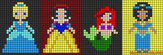 Friendship bracelet patterns added by prplninja. Learn how to make friendship bracelets of threads or yarn, and start tying today! Perler Bead Templates, Perler Patterns, Friendship Bracelet Patterns, Friendship Bracelets, Loom Beading, Beading Patterns, Perler Bead Disney, Lego Mosaic, Rainbow Loom Patterns