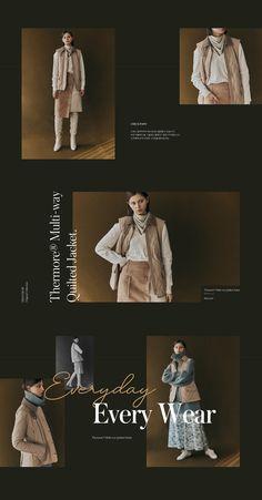 W Concept Graphisches Design, Page Design, Layout Design, Lookbook Layout, Lookbook Design, Minimal Web Design, Fashion Web Design, Fashion Banner, Presentation Layout