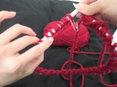 This video outlines how to knit in a round with a circular knitting needle. For more images and videos, visit: http://sussle.org/t/Knitting
