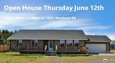 Open House - 19221 Shoshone Rd on June 12th 4:00pm - 6:00pm