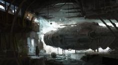 Hangar, Rostislav Zagornov on ArtStation at https://www.artstation.com/artwork/hangar-151b74d1-5e2a-40d5-82f8-80b879d0e23e