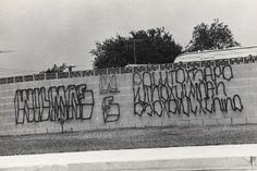 """Wilmas  Block letters with drop shading but still within genre of Chicano graffiti. It has been said that """"Wilmas"""" is Wilmington in Spanish. While this is not true, """"Wilmas"""" was the name adopted at least 50 years ago by gang members from the Los Angeles Harbor area community of Wilmington...."""