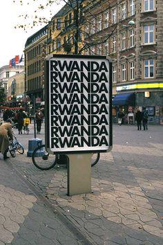 """Alfredo Jaar, """"Rwanda Rwanda"""" (1994)"""