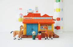 Western town Fisher Price - 1982 leshappyvintage.fr