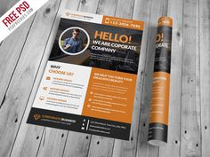 Download Corporate and Clean Business Flyer PSD Template. This Free Corporate and Clean Business Flyer PSD Template designed exclusively for corporate, business, agency promotion or any of use. Corporate and Clean Business Flyer PSD Template is A4 Size and is ready for print, because it's in CMYK at 300 dpi. The psd file can be edited in Adobe Photoshop, and to be able to change the text.