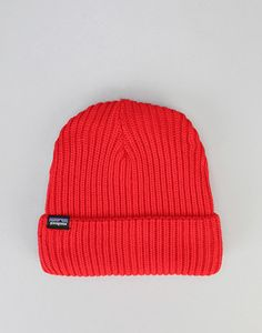 buy online 3d5ea 28433 Patagonia Fishermans Rolled Beanie - French Red
