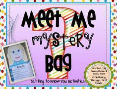 Meet Me Mystery Bag-Getting to Know You Activities