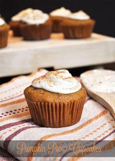 Pumpkin Pie Cupcakes. YUM!