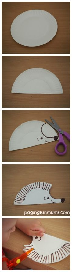 Paper Plate Craft to help encourage early scissor skills.