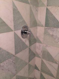 Marble shower triangle pattern. Kelly Wearstler - Hotel Avalon