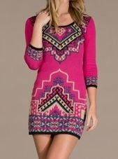 This Fuchsia Suzani Scoop Neck Bodycon Dress by Flying Tomato is perfect! Only Fashion, Womens Fashion, Boho Fashion, Fashion Dresses, Cool Outfits, Amazing Outfits, Unique Outfits, Pretty Outfits, Pretty Dresses