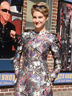 DRESSING THE PART | Before turning heads at the Met Gala, Shailene Woodley slips on another fashionable number for a Monday visit to the N.Y.C. Late Show with David Letterman studio.