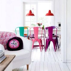 Colored chairs <3