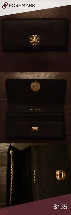 Tory Burch - Mercer Envelope Continental Wallet Brand new with tags, black. Tory Burch Bags Wallets