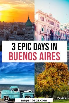 Complete travel guide to Buenos Aires. This list of things to do in Buenos Aires, Argentina, is ready to be used. If you haven't considered visiting Buenos Aires before, after reading this post, you will want to add it to your bucket list trip to South America. | buenos aires travel tips | traveling to argentina | traveling to buenos aires | 3 days in buenos aires | argentina travel tips #mapsnbags #BuenosAires #Argentina #SouthAmerica #Travel