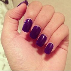 Deep purple Deep Purple, Nails, Beauty, Finger Nails, Beleza, Ongles, Nail, Cosmetology, Manicures