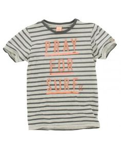 Scotch and Soda Shrunk jongens - T-shirt Streep surf