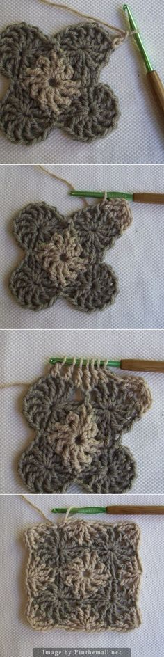 CrochetDad's Wheel Stitch Block Tutorial