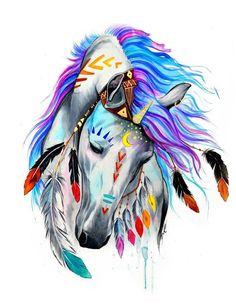 Best Inspiration Art Drawing – My Life Spot Horse Drawings, Animal Drawings, Art Drawings, Drawing Animals, Art Sketches, Native Art, Native American Art, American Indian Tattoos, Indian Horses
