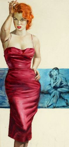 'Tonight it's Me' - 1957 pulp art by Lou Marchetti.