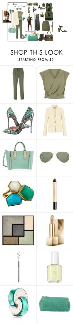 """The New Militar"" by sandra-moreno-2 on Polyvore featuring Etro, Christian Louboutin, Marella, Henri Bendel, Ray-Ban, Ippolita, shu uemura, Yves Saint Laurent, Burberry and Essie"