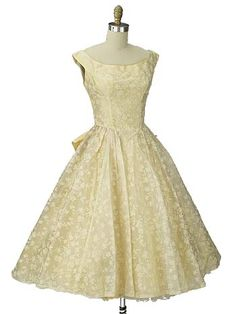 Authentic 1950s vintage Emma Domb prom/party dress would also make a lovely informal wedding or reception dress.