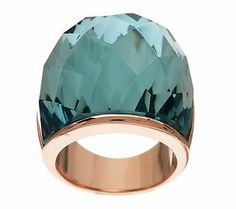 Bronzo Italia Bold Domed Faceted Glass Ring