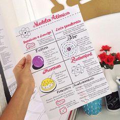 Modelos Atômicos| 29.04 | Química #quimica #modelosatomicos #atomo #resumos #studygram Bullet Journal Notes, Bullet Journal School, Bullet Journal Ideas Pages, College Notes, School Notes, Studyblr, Mental Map, Note Taking Tips, School Study Tips