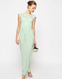 65afa074117 ASOS WEDDING Lace Top Pleated Maxi Dress at asos.com. Robe Vert MentheRobe  VerteRobe LongueRobe De SoiréeTenue MariageMariage RobesRobe ...