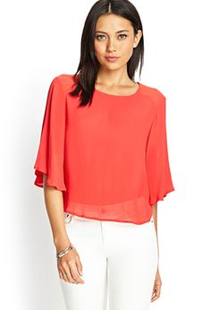 Bell Sleeve Georgette Blouse | FOREVER21 - 2000068325
