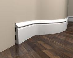 Flexible Sockelleiste MD018F - Fußleiste flexibel Flexibility, Modern, Projects To Try, Bathtub, Vogue, Bathroom, Diy, Studio, Baseboards