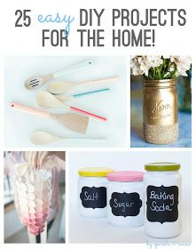 DIY: 25 Easy DIY Projects For The Home - lots of ways to repurpose/recycle & some creative organizational projects to make.