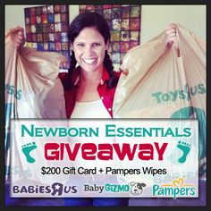 Win a $200 toys-r-us gift card!!! and pampers wipes!! Enter here http://blog.babygizmo.com/2013/10/newborn-essentials-celebrate-milestones-giveaway/#comment-283976