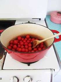 Picnics in the Park: Made From Scratch: Cherry Tomato Pasta Sauce