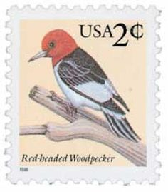 #3032 – 1996 2c Red-headed Woodpecker,sheet sngl for sale at Mystic Stamp Company