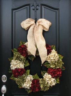 Hydrangea wreath that I'm making tomorrow for my summer to autumn transition front door!