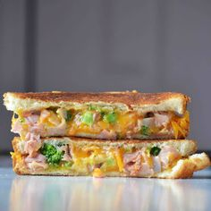 Ham and Broccoli Grilled Cheese Sandwiches        RSmith
