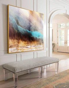 """Purchase this amazing """"Impression of Deeper Projection""""Abstract Painting we will ship the item for free. This is the perfect centerpiece for your home."""