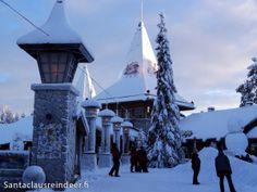 Winter im Weihnachtsmanndorf in Rovaniemi in Lappland