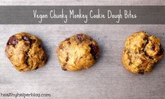 Vegan Chunky Monkey Cookie Dough Bites – Healthy Helper