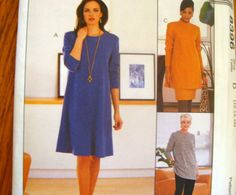 McCALLS SEWING PATTERN - 8396 - MISSES PLUS 16,18,20 -TUNIC, DRESS, PANTS, SKIRT
