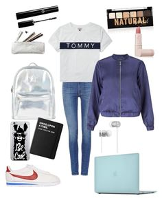 """Back to school ideas"" by holychicro ❤ liked on Polyvore featuring Levi's, Tommy Hilfiger, Miss Selfridge, NIKE, Accessorize, Incase, Killstar, OTM Essentials, Beats by Dr. Dre and NYX"