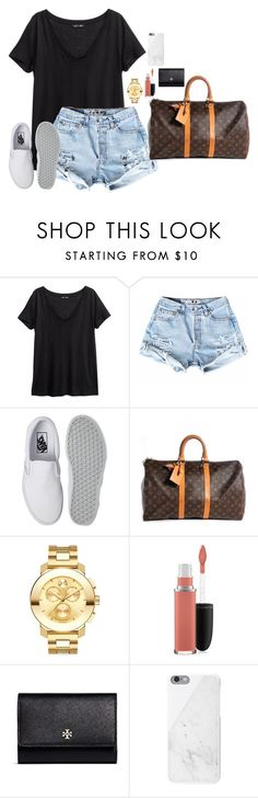 """"" by bri01 ❤ liked on Polyvore featuring H&M, Vans, Louis Vuitton, Movado, MAC Cosmetics, Tory Burch and Native Union"