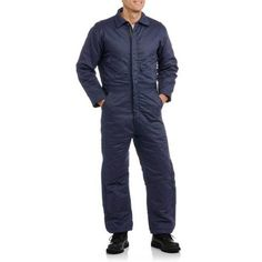 Walls FR Men's Flame Resistant Insulated Coverall, HRC Level 2, Size: Medium, Blue