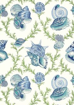 Sumba Shell blue and green #Thibaut #Biscayne