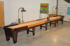 Rock Ola Shuffleboard Restoration Complete Table Fully Restored