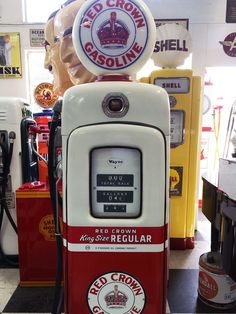 Fun at the local auto parts store. The owner must be a antique collector. Old gas pumps!!!