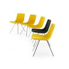 Comet Sport designed by Gunilla Allard is a light chair that fit perfectly in to different environments such as dining areas, lounges, hotels, offices and conference spaces. Side Chairs, Dining Room, Lounge, Furniture, Design, Home Decor, Cinema, Google Search, Yellow